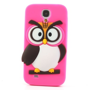 Rose Novelty 3D Owl Silicone Protector Cover for Samsung Galaxy S4 I9500 I9502 I9505
