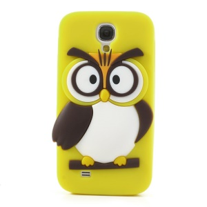 Yellow for Samsung Galaxy S4 I9500 I9502 I9505 Novelty 3D Owl Silicone Protective Case