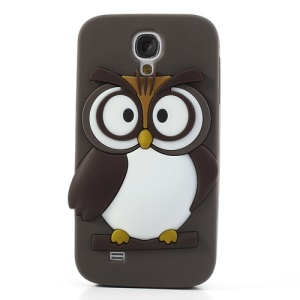 Coffee Novelty 3D Owl for Samsung Galaxy S4 I9500 I9502 I9505 Soft Silicone Back Shell