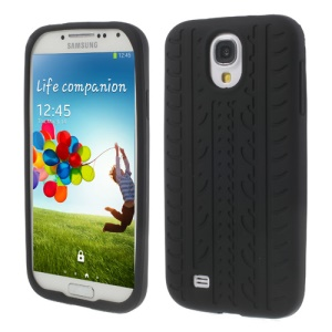 Tyre Silicone Shell for Samsung Galaxy S4 I9500 I9502 I9505 - Black