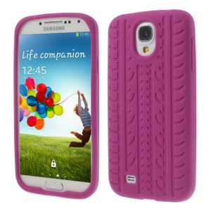 Tyre Silicone Back Cover for Samsung Galaxy S4 I9500 I9502 I9505 - Rose