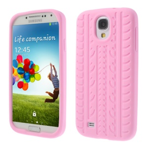 Tyre Silicone Phone Shell for Samsung Galaxy S4 I9500 I9502 I9505 - Pink