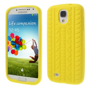 Tyre Soft Silicon Skin Case for Samsung Galaxy S4 I9500 I9502 I9505 - Yellow