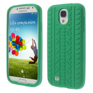 Tyre Soft Silicone Shell Case for Samsung Galaxy S4 I9500 I9502 I9505 - Green
