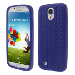 Tyre Silicone Protective Case for Samsung Galaxy S4 I9500 I9502 I9505 - Dark Blue