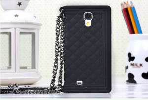 Black Grid Pattern Silicone Phone Shell for Samsung Galaxy S4 I9500 I9502 I9505