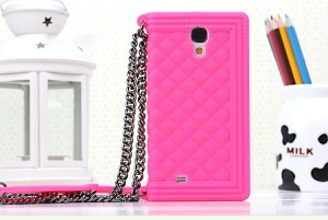 Rose Grid Pattern Silicone Gel Cover for Samsung Galaxy S4 I9500 I9502 I9505