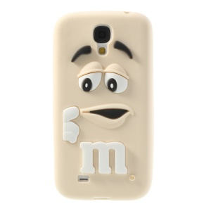 PIZU Laughing M&M Bean Candy Smell Soft Silicone Case for Samsung Galaxy S4 I9500 - Beige