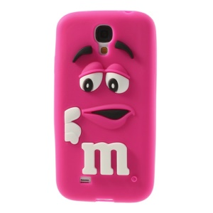 PIZU Laughing M&M Bean Candy Smell Silicone Jelly Cover for Samsung Galaxy S4 I9500 - Rose