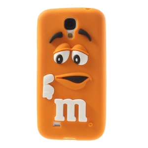 PIZU for Samsung Galaxy S4 I9502 Laughing M&M Bean Candy Smell Silicon Phone Cover - Orange