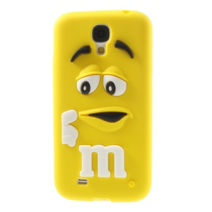 PIZU for Samsung Galaxy S4 I9502 Laughing M&M Bean Candy Smell Silicon Case Shell - Yellow