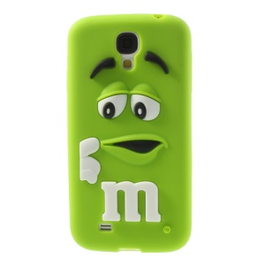 For Samsung Galaxy S4 I9505 PIZU Laughing M&M Bean Candy Smell Silicon Protector Shell - Green