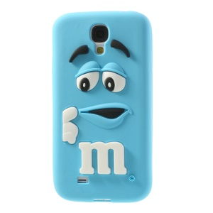 For Samsung Galaxy S4 I9505 PIZU Laughing M&M Bean Candy Smell Silicon Protective Case - Blue