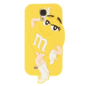 Ms.Green M&Ms Rainbow Chocolate Bean for Samsung Galaxy S4 I9505 Silicone Shell - Yellow