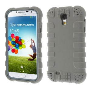 Shock-proof Silicone Gel Cover for Samsung Galaxy S4 I9500 I9502 I9505 - Gray