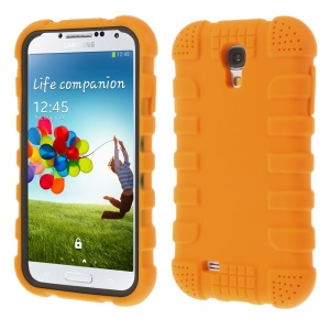 Shock-proof Silicone Gel Shell for Samsung Galaxy S4 I9500 I9502 I9505 - Orange