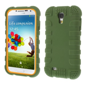 Shock-proof Silicone Gel Shell Cover for Samsung Galaxy S4 I9500 I9502 I9505 - Green