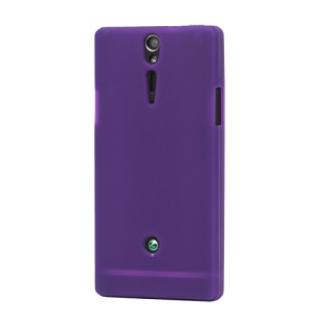 Sony Xperia S LT26i LT26a / Nozomi Silicone Skin Case Cover - Purple