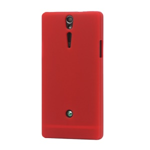 Silicone Skin Case Cover for Sony Xperia S LT26i LT26a / Nozomi - Red