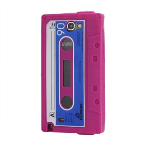 Cassette Tape Soft Silicone Cover Jelly Case for Samsung Galaxy Note 2 / II N7100 - Rose