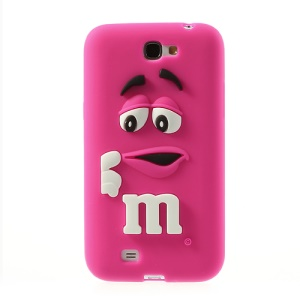 Rose PIZU M&M Bean Candy Smell Silicone Case for Samsung Galaxy Note 2 N7100
