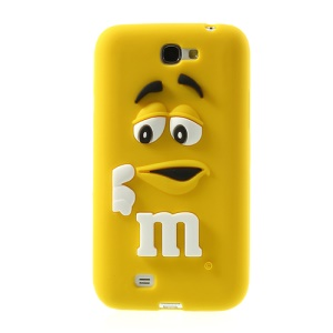 Yellow PIZU M&M Bean for Samsung Galaxy Note 2 N7100 Candy Smell Silicone Cover