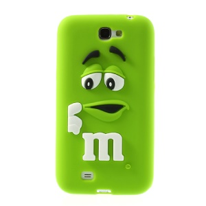Green PIZU M&M Bean for Samsung Galaxy Note 2 N7100 Candy Smell Silicone Cover