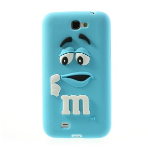 Blue PIZU M&M Bean for Samsung Galaxy Note 2 N7100 Candy Smell Silicone Jelly Cover