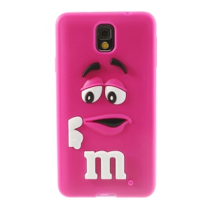 PIZU M&M Bean Candy Smell Soft Silicone Cover for Samsung Galaxy Note 3 N9005 N9000 - Rose