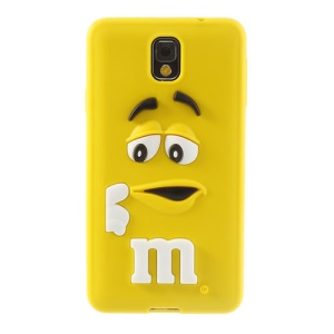 PIZU M&M Bean Candy Smell for Samsung Galaxy Note 3 N9005 N9002 Silicone Cover - Yellow
