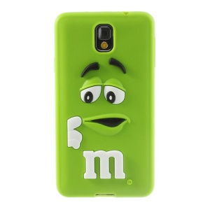 PIZU M&M Bean Candy Smell for Samsung Galaxy Note 3 N9005 N9002 Silicone Shell - Green