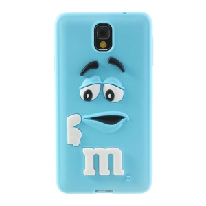 PIZU M&M Bean Candy Smell for Samsung Galaxy Note 3 N9005 N9002 Silicone Shell Case - Blue
