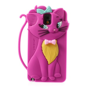 Rose for Samsung Galaxy Note 3 N9005 Bow Tie Love Cat Silicone Case