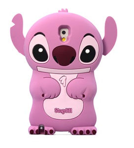 Deere Stogdill 3D Stitch Soft Silicone Cover for Samsung Galaxy Note 3 N9005 N9002 - Pink