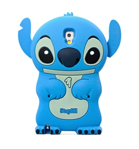 Deere Stogdill 3D Stitch Silicone Shell Case for Samsung Galaxy Note 3 N9005 N9002 - Blue