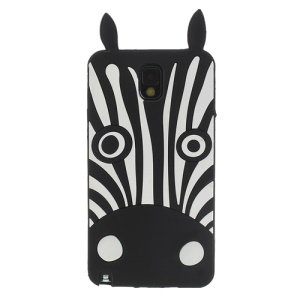 Black 3D Zebra Silicone Case for Samsung Galaxy Note 3 N9000 N9002
