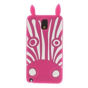 Rose 3D Zebra Silicone Gel Case for Samsung Galaxy Note 3 N9000 N9005