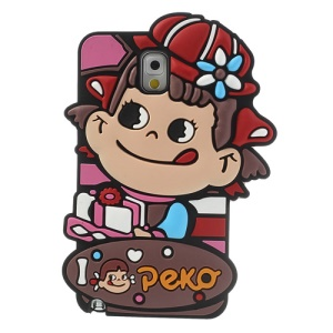 Cute Peko Delivering Cake Soft Silicone Case for Samsung Galaxy Note 3 N9005 N9002