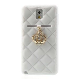 Diamante Crown Silicone Gel Case for Samsung Galaxy Note 3 N9005 N9002 - White