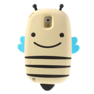 Beige Lovely Honeybee Soft Silicone Case for Samsung Galaxy Note 3 N9005
