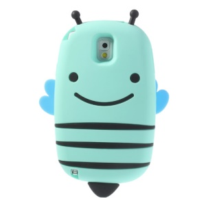 Cyan Lovely Honeybee Soft Silicone Case for Samsung Galaxy Note 3 N9005