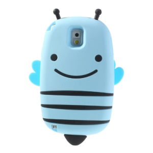 Baby Blue Lovely Honeybee Soft Silicone Cover for Samsung Galaxy Note 3 N9005