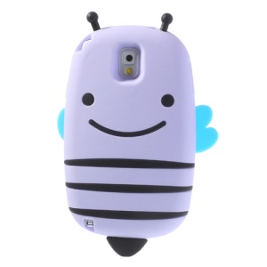 Purple Lovely Honeybee Soft Silicone Cover for Samsung Galaxy Note 3 N9005