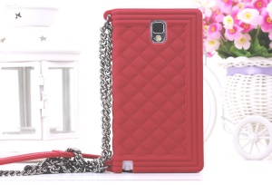 Red Grid Pattern Soft Silicone Shell for Samsung Galaxy Note 3 N9005