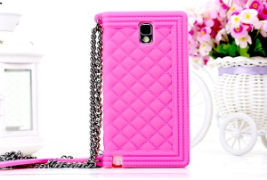 Rose Grid Pattern Soft Silicone Cover for Samsung Galaxy Note 3 N9002