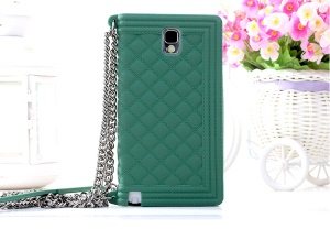 Green for Samsung Galaxy Note 3 N9005 Grid Pattern Silicone Protector Case