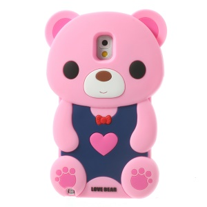 Pink for Samsung Galaxy Note 3 N9002 N9000 N9005 Cute Love Bear Soft Silicone Case