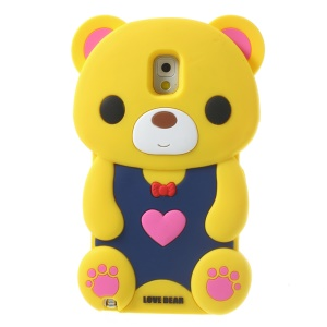 Yellow for Samsung Galaxy Note 3 N9002 N9000 N9005 Cute Love Bear Soft Silicone Case
