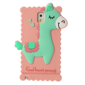 Pink for Samsung Galaxy Note 3 N9005 3D God Beast Pony Silicone Cover