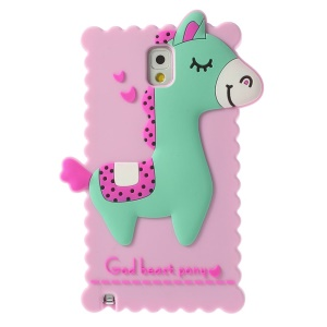 Lavender Cute 3D God Beast Pony Silicone Shell for Samsung Galaxy Note 3 N9000